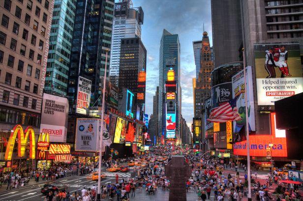Top 10 praças do mundo VII. TImes Square, de Nova Iorque